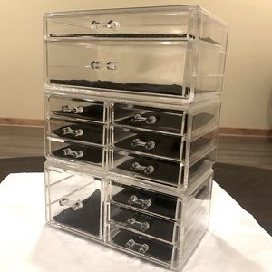 Set of 3 Acrylic Makeup Organizer